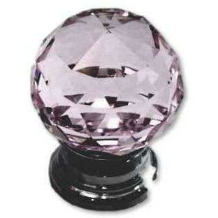 Crystal knob ball type - pink - Decor Handles