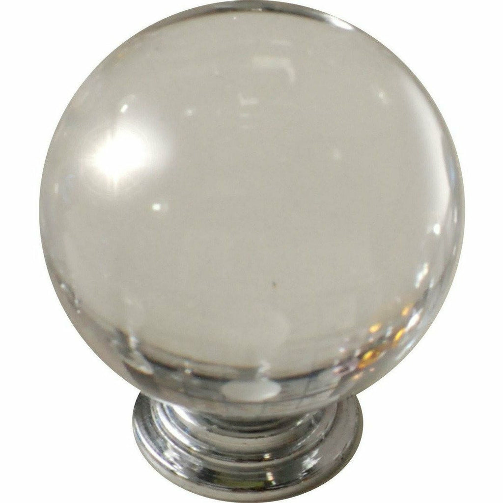 Clear crystal knob ball type 40MM