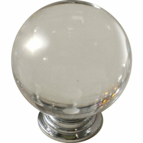 CLEAR CRYSTAL KNOB BALL TYPE