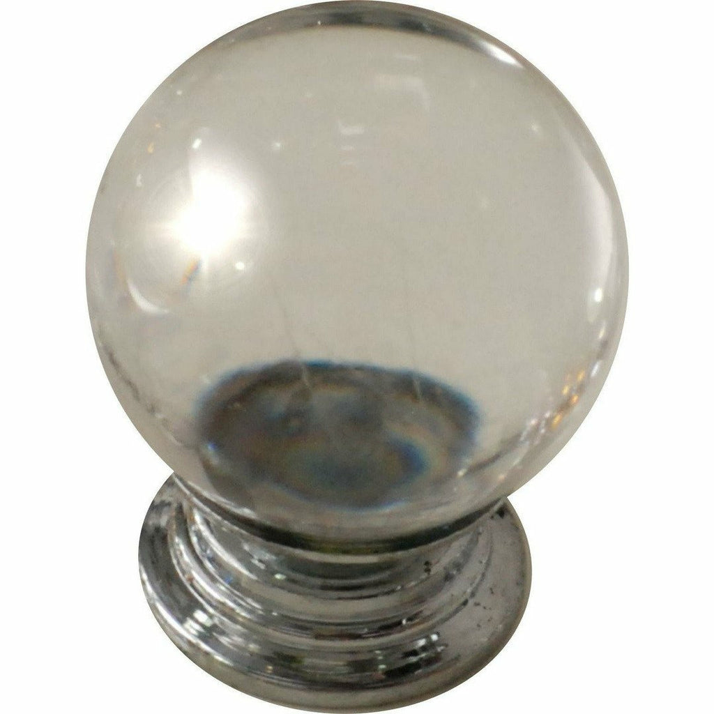 Clear crystal knob ball type 30MM