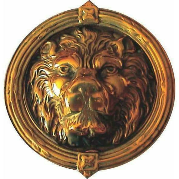 Lion head door knocker - brass - Decor Handles