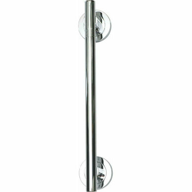Solid brass modern pull - shiny chrome plated (each) - Decor Handles