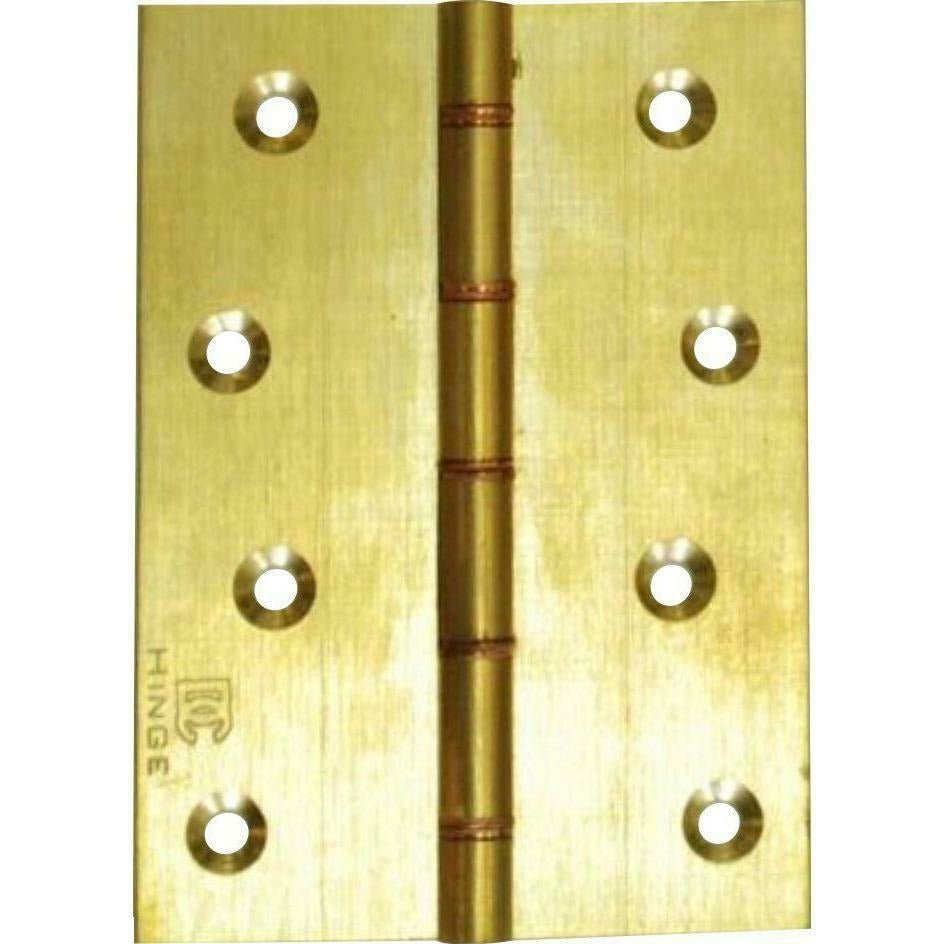 SOLID BRASS BUTT HINGE WITH COPPER WASHERS
