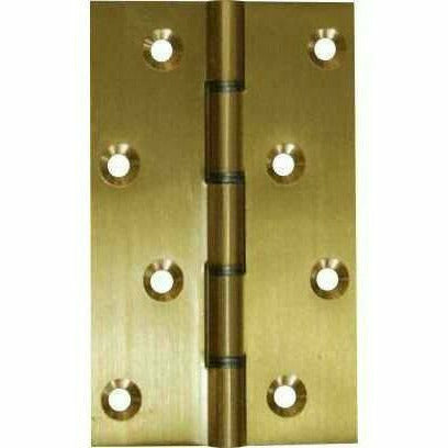 Solid brass butt hinge with metal washers - brushed polished brass - Decor Handles
