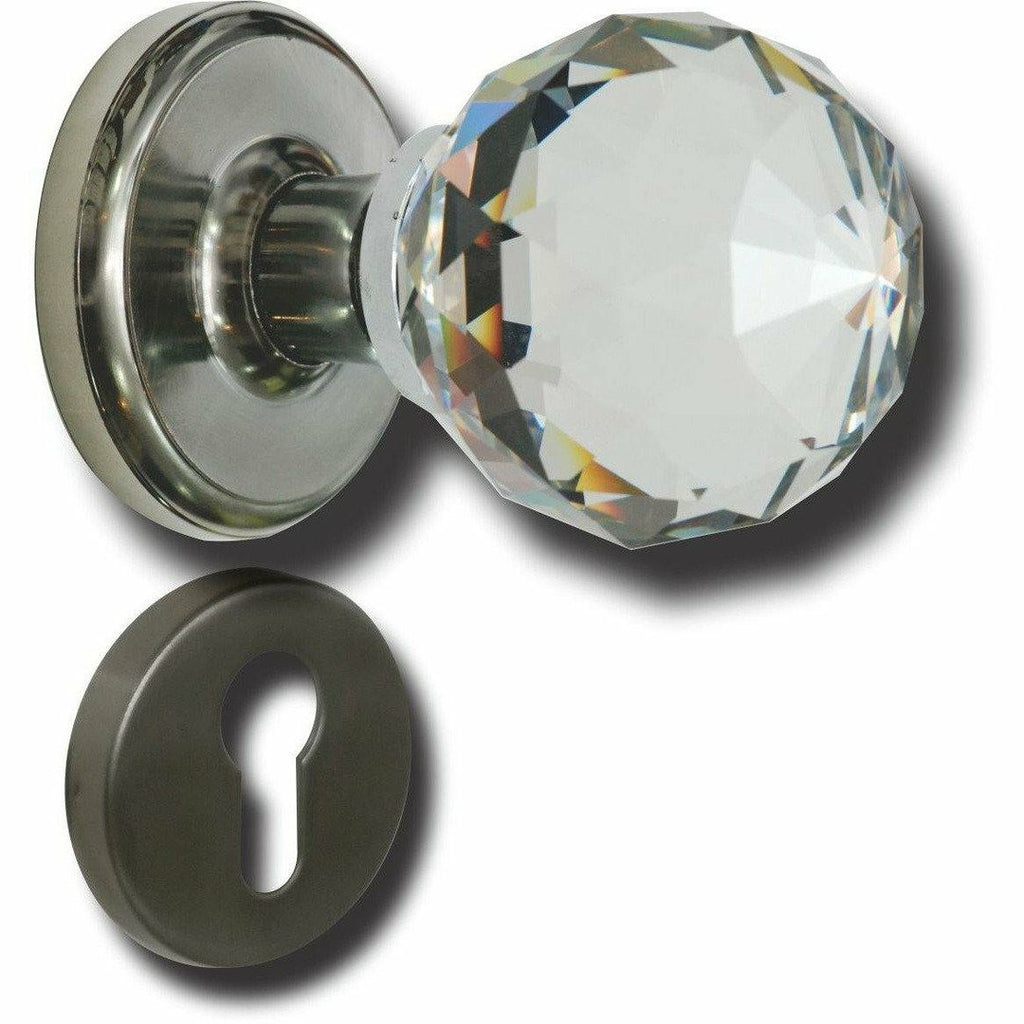 Crystal door knob STAINLESS STEEL