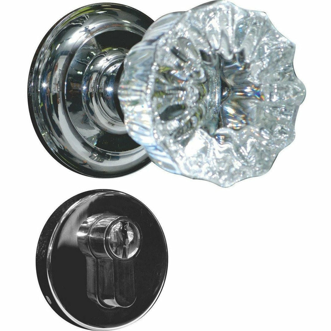 Flower shaped crystal door knob