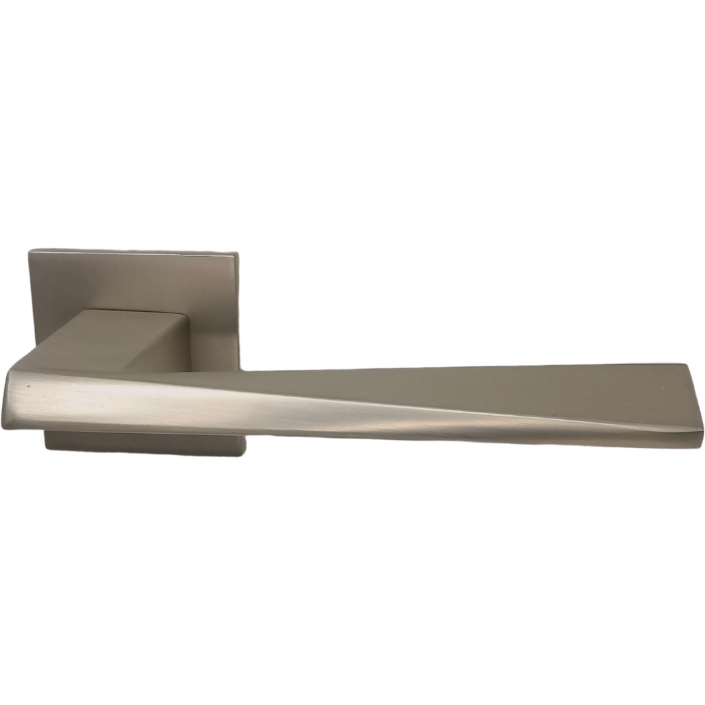 Square Italian Door Handle on Square Rose - Decor Handles
