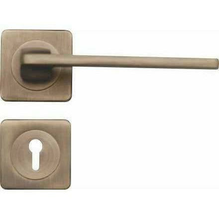 Lever handle on square rose - Decor Handles