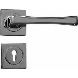 SQUARE SHINY LEVER HANDLE ON ROSE