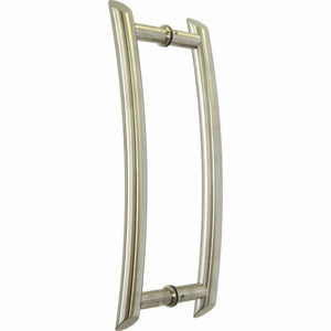 Brushed stainless steel pull handle - Decor Handles