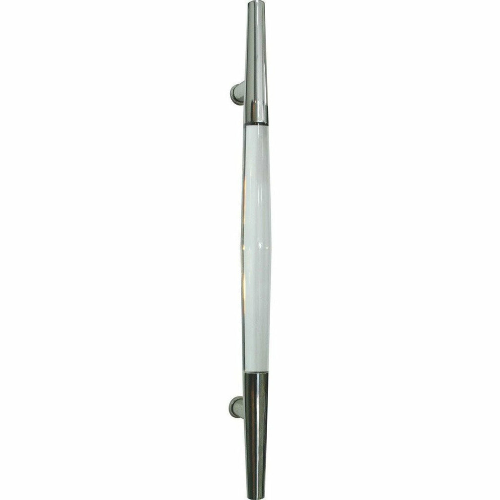Tapered stainless steel and acrylic pull handle - Decor Handles