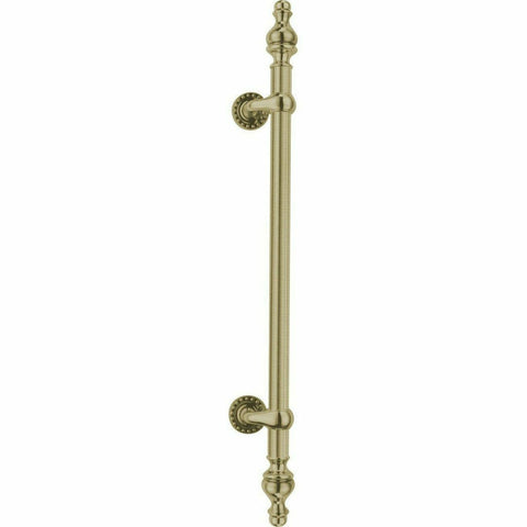 Offset pull handle with finials - 800mm - Decor Handles