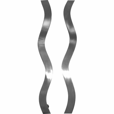 Solid stainless steel wavy pull handle - Decor Handles