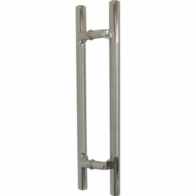 Dotted offset stainless steel pull handle - Decor Handles
