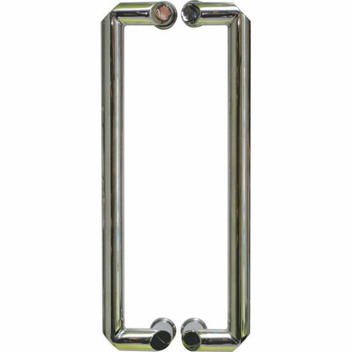 Shiny chrome offset pull handle - Decor Handles