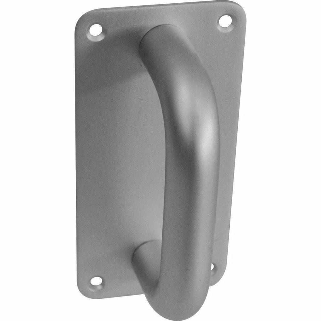 150X75mm Aluminium pull handle on plate - Decor Handles