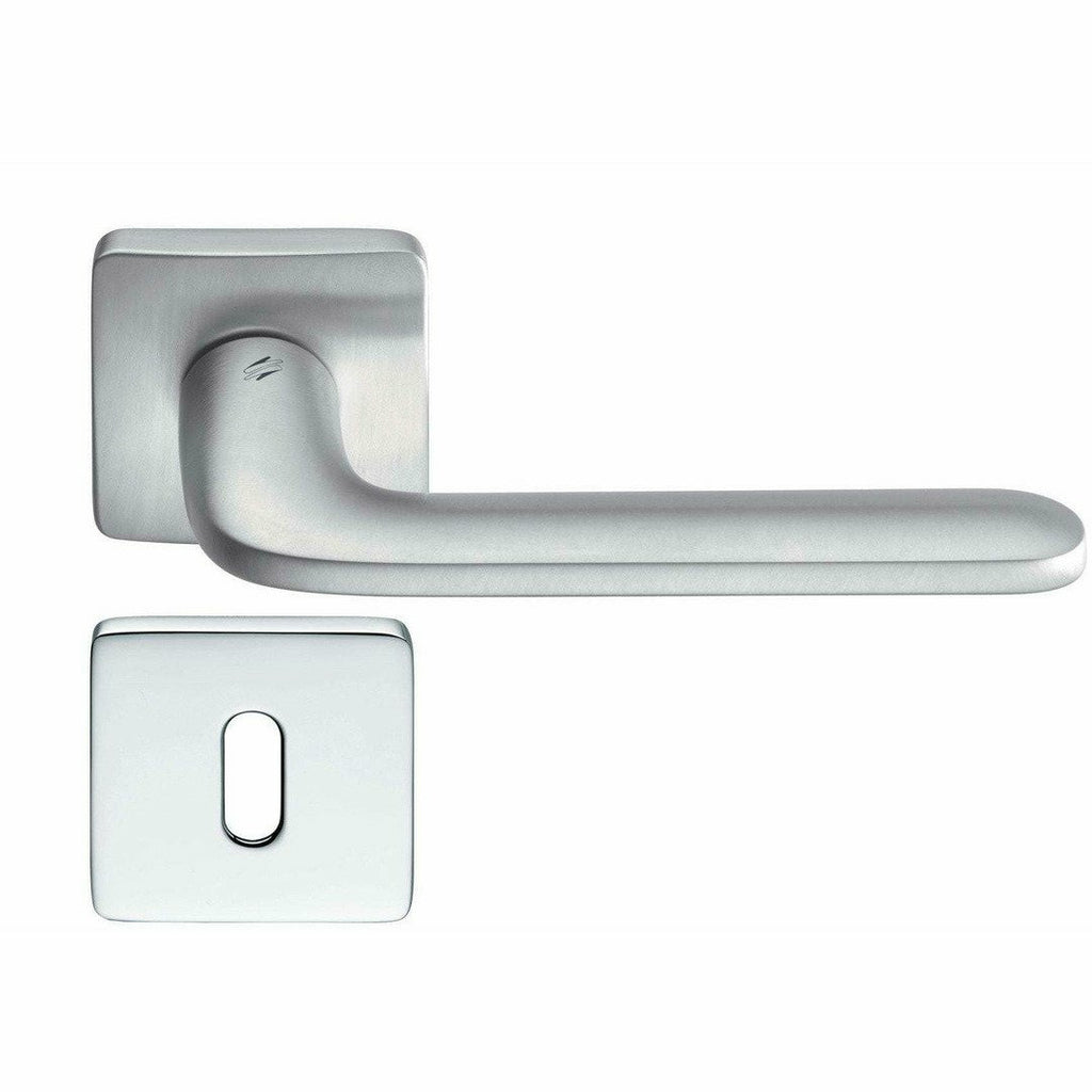 Exclusive Italian lever handle on square rose - Decor Handles