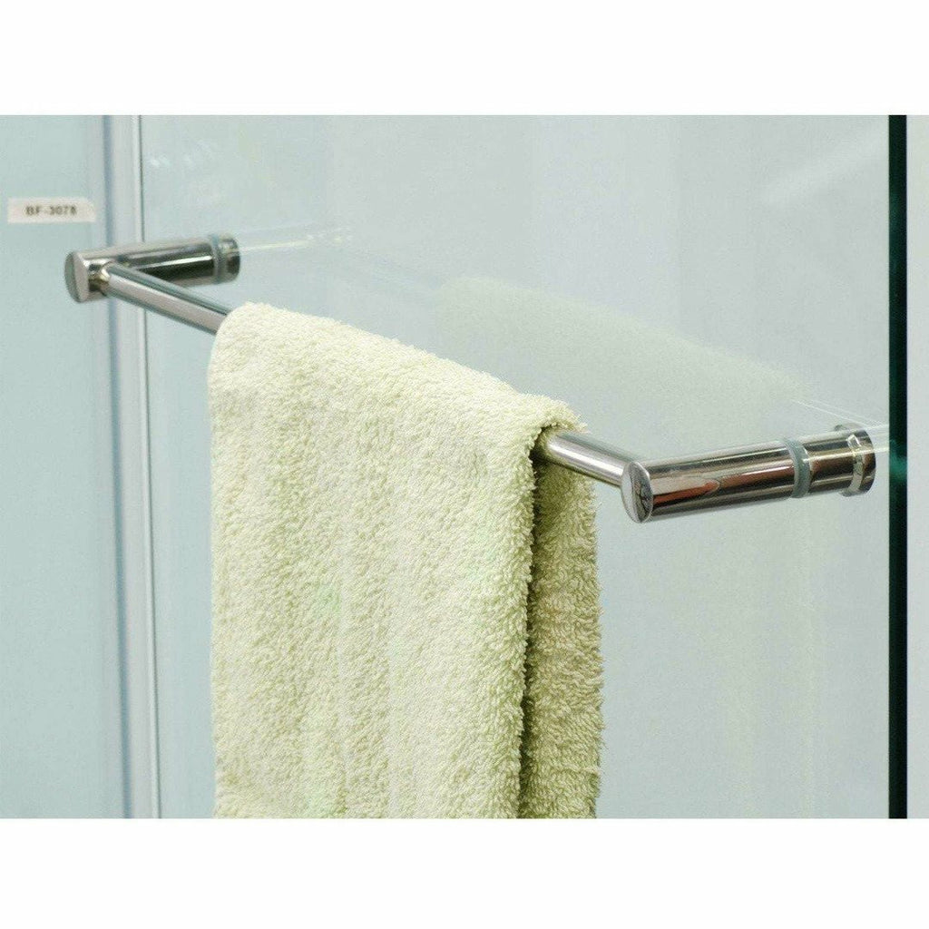Glass shower door pull handle - Decor Handles