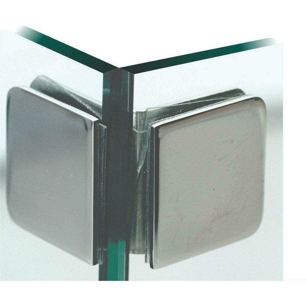 Glass to glass 90 degree bracket - Decor Handles