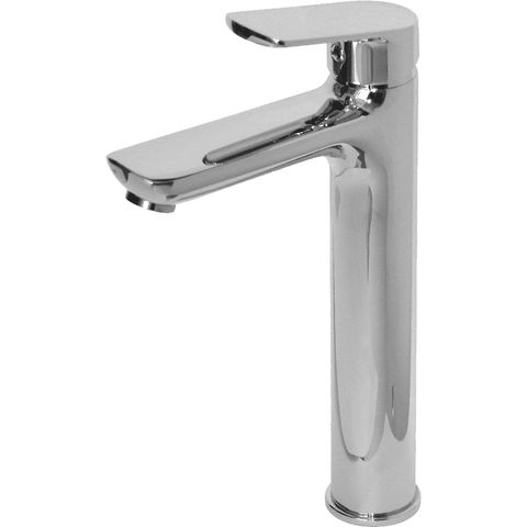 Modern Basin Mixer - 210mm - Shiny Chrome Tap - Decor Handles