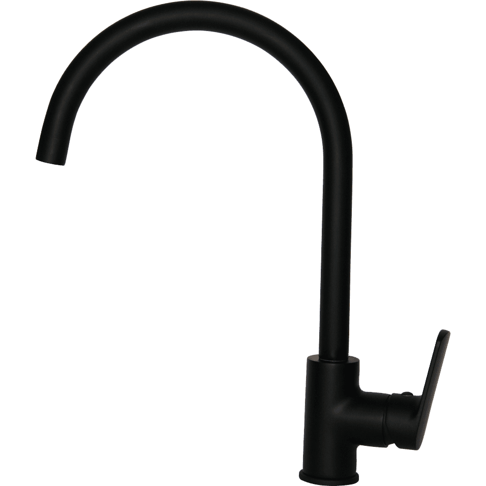 One Hole Sink Mixer J Spout - Black - Decor Handles