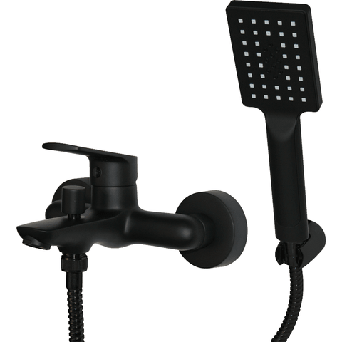 Bath Mixer W/T - Black - Decor Handles