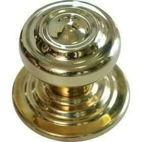 solid brass central knob with ripple - Decor Handles