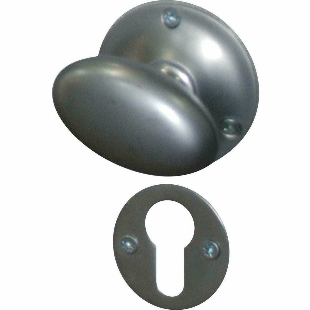 Oval solid brass knob - Decor Handles