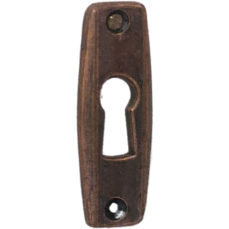 Rectangular cupboard key plates - Decor Handles