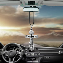 Load image into Gallery viewer, Metal Jesus Cross Car Ornament