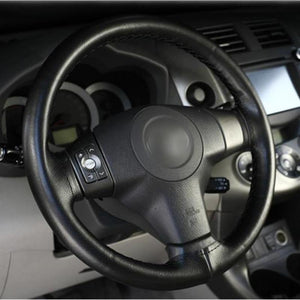 Soft Fiber Leather Steering Cover