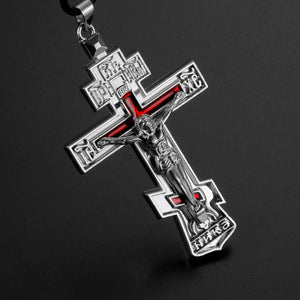 Metal Jesus Cross Car Ornament