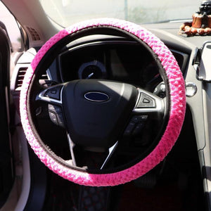 Warm Plush Car Steering Cover