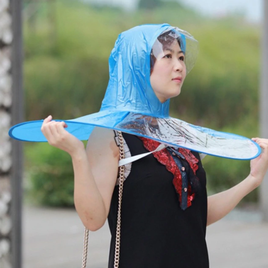Raincoat Umbrella Hat