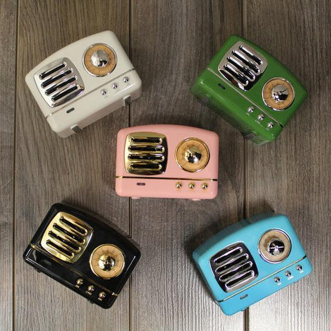 Mini Portable Vintage Bluetooth Speaker