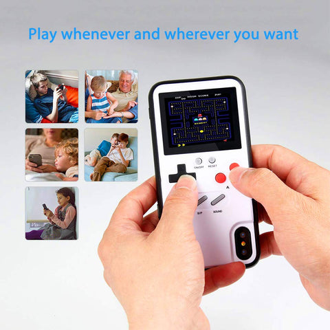 RETRO+ Gameboy Style Full Color Video Game Phone Case for iPhone X XS Max XR 8 7 6