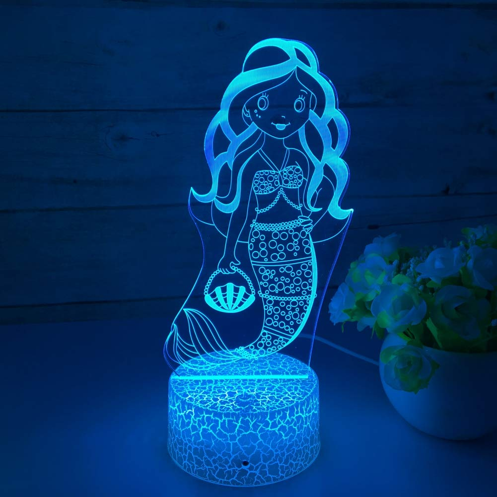 Mermaid 3D LED Night Light