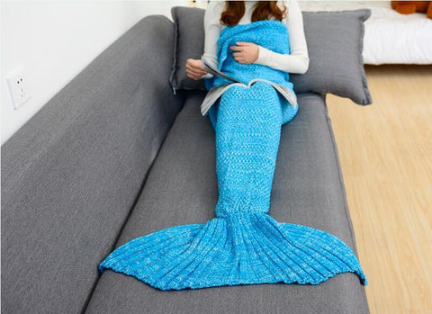 Image of Mermaid Crochet Tail Blanket
