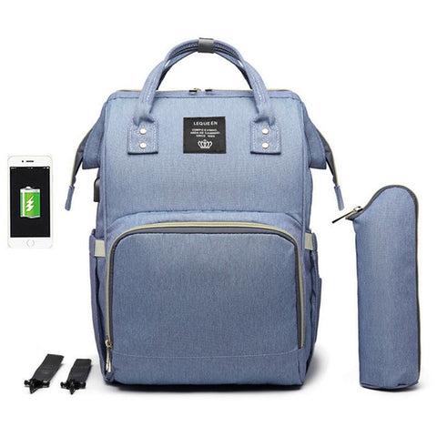 Image of LeQueen USB Chargeable Diaper Bag
