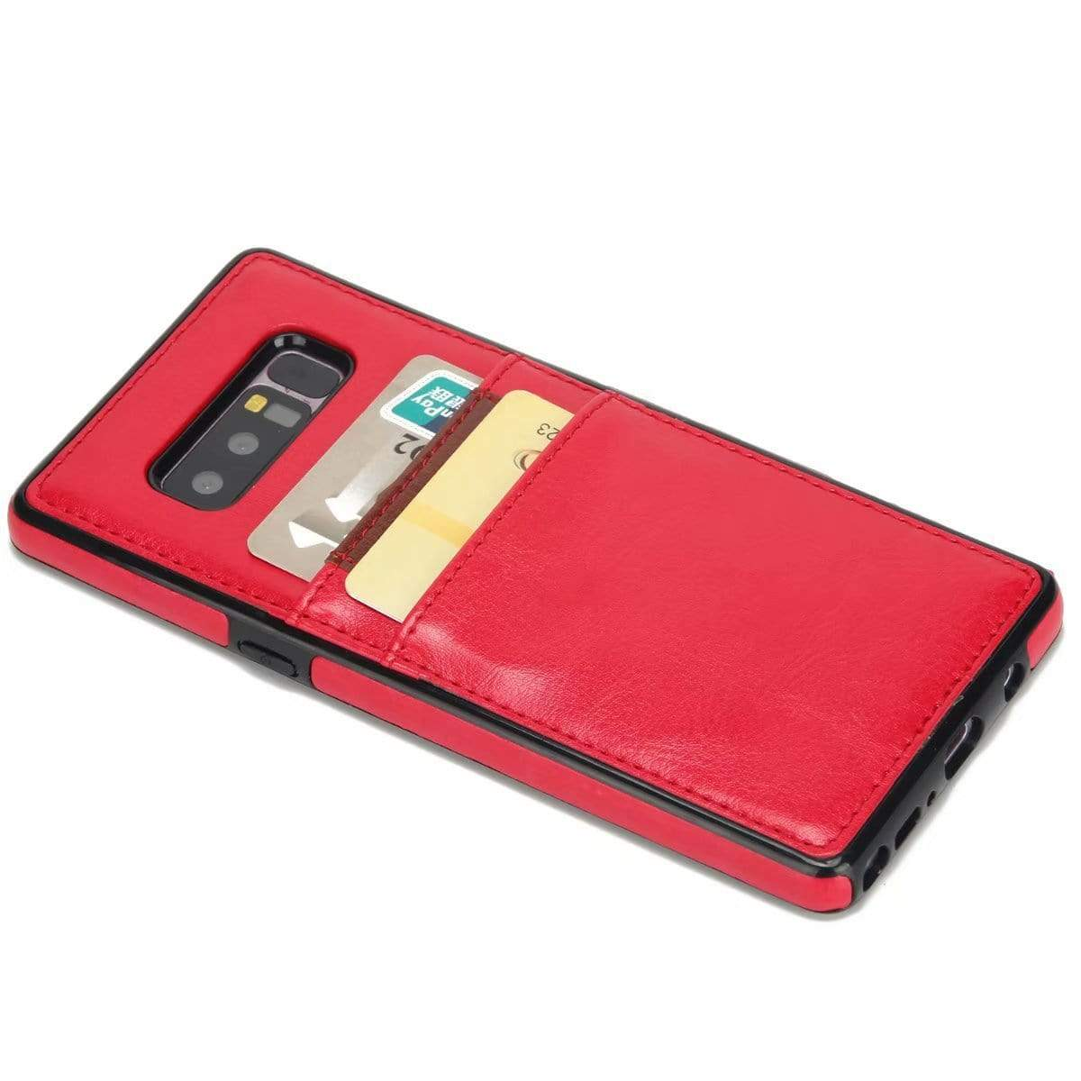 Pluggable Card Genuine Leather Phone Case For Samsung