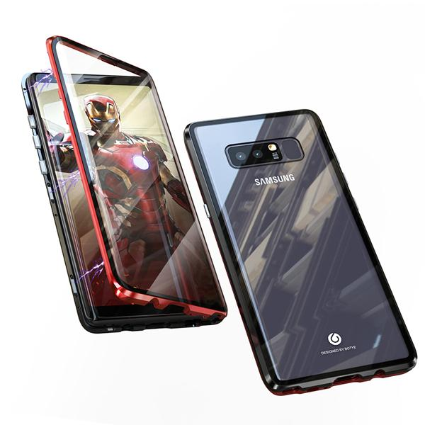 2019 Upgraded Version Magnetic Adsorption Transparent Tempered Glass Two side Glass Cover Phone Case For Samsung Note9/Note8