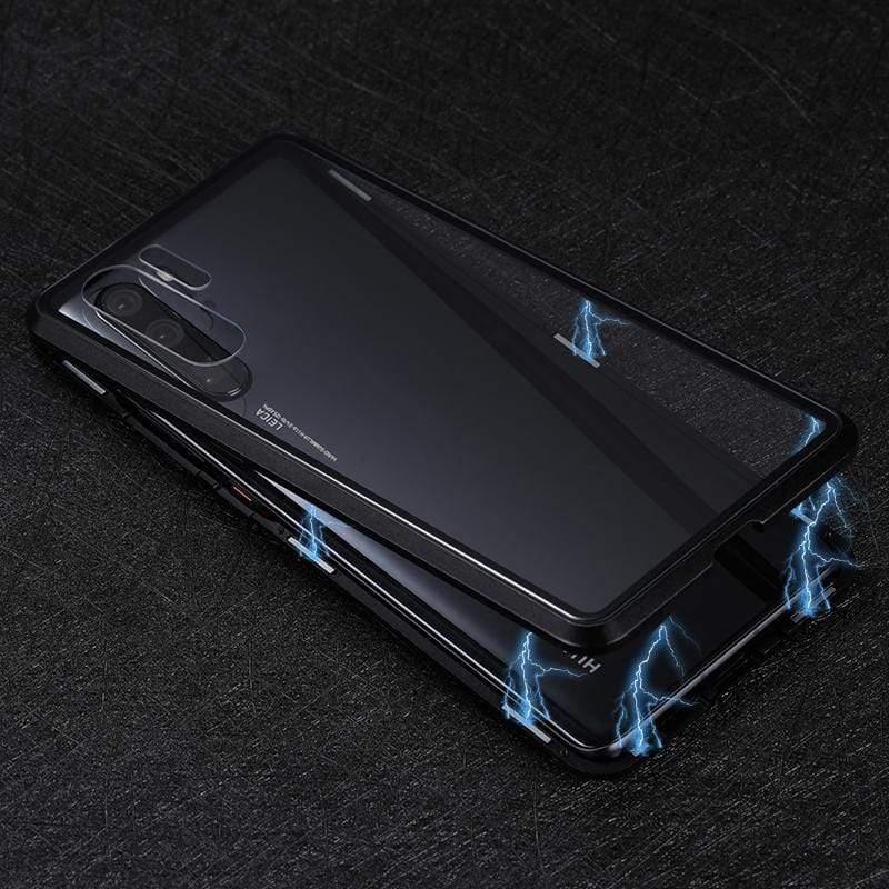 Magnetic Adsorption Transparent Tempered Glass Two side Glass Cover Phone Case For Huawei P30 P30Lite P30Pro