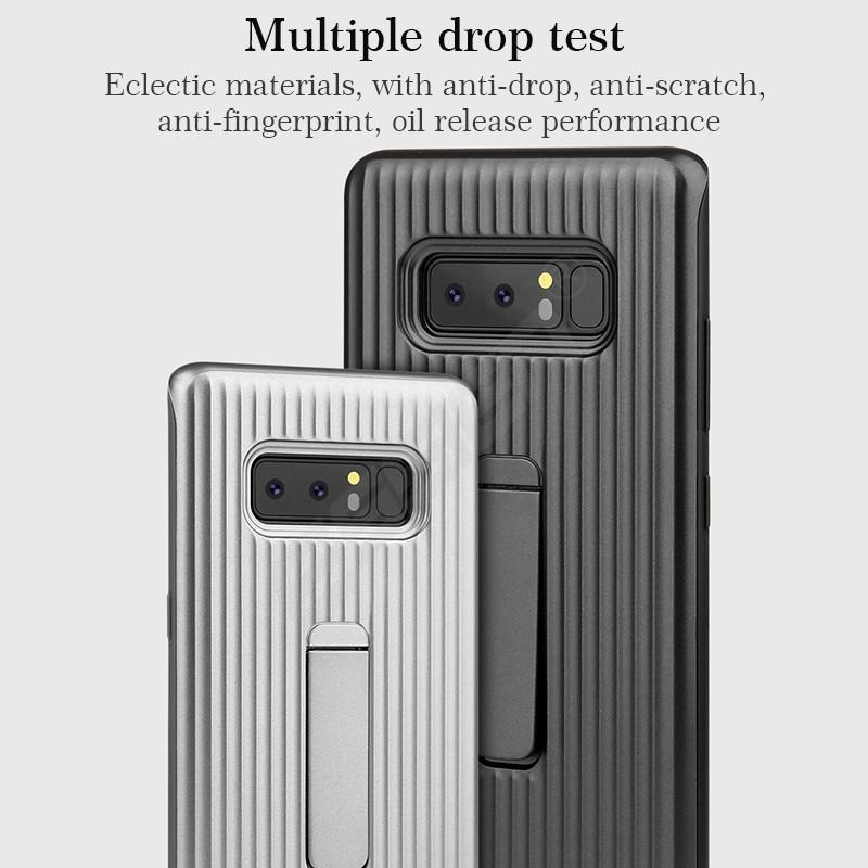 Vertical Protective Folding Bracket Anti-Skid Design Phone Case For Samsung Note8 / Note9 / S8 / S9 / S8Plus / S9Plus