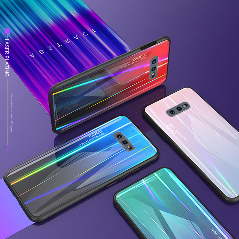 Laser Gradient Tempered Glass Phone Case For Samsung S10 S10Plus S10E/Lite
