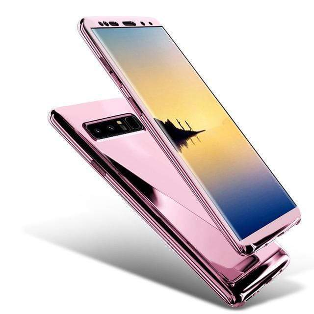 360 Degree Full Body Case Soft HD Screen Protection Protector Film Ultralight Slim Hard Mirror Chrome Electroplate Cover for Samsung Galaxy S10/9/8