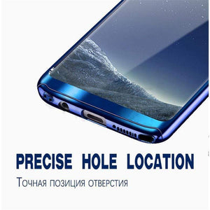 360 Degree Full Body Case Soft HD Screen Protection Protector Film Ultralight Slim Hard Mirror Chrome Electroplate Cover for Samsung Galaxy