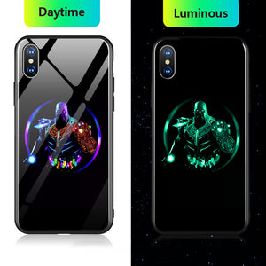 Marvel Tempered Glass Luminous Phone Case For Samsung Galaxy