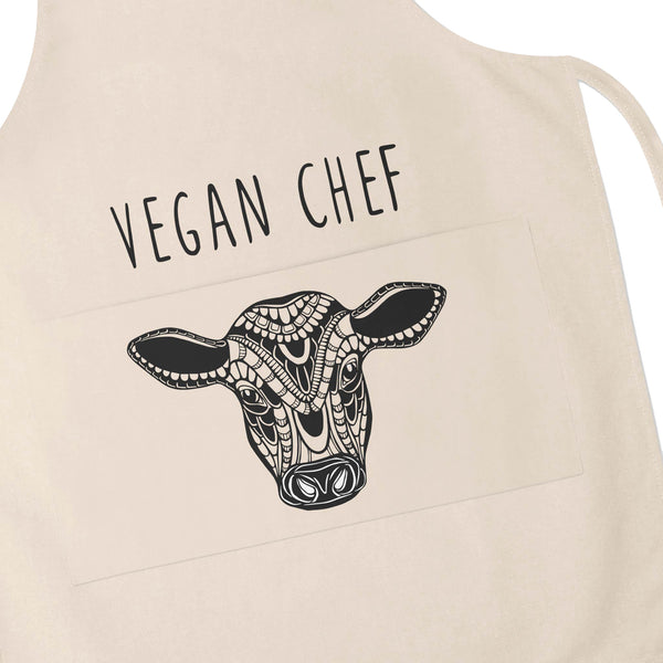 Apron Vegan Chef Cow