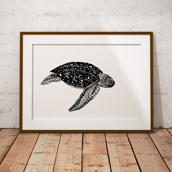 Art Print Turtle (leatherback)
