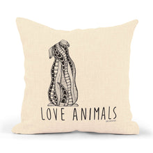 "Load image into Gallery viewer, Pillowcase Dog ""Love Animals"""